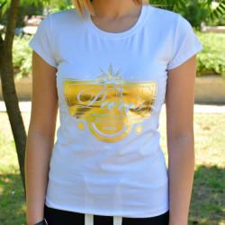 Дамска тениска - бяла с щампа PARIS