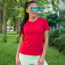 Дамска изчистена тениска - червена