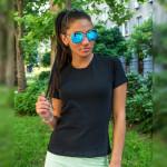 Дамска изчистена тениска - черна