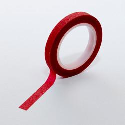 Самозалепващо фолио за декорация на нокти с пясъчен ефект в червено