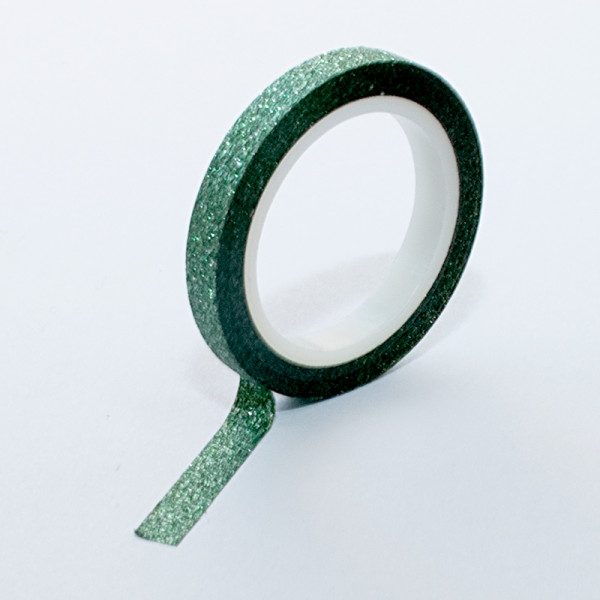 Зелено самозалепващо фолио за декорация на нокти с пясъчен ефект
