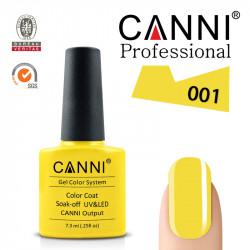CANNI uv/led soak off цветен гел лак за нокти 001