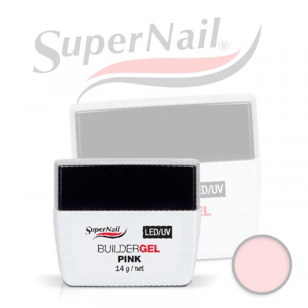 Професионален изграждащ uv/led гел Super Nail - Pink (14 гр.)