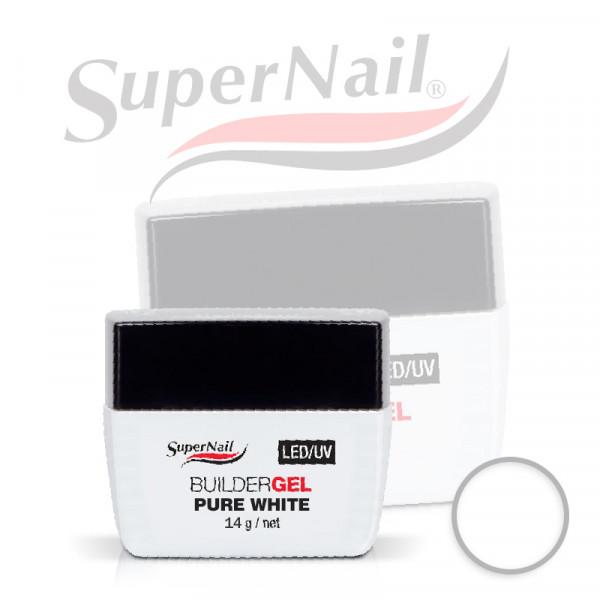 Професионален изграждащ uv/led гел Super Nail - Pure White (14 гр.)