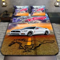 3D луксозен спален комплект Mustang