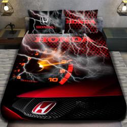 3D луксозен спален комплект Honda Red