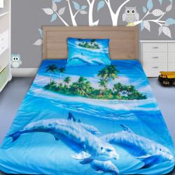 3D луксозен детски спален комплект Dolphins world