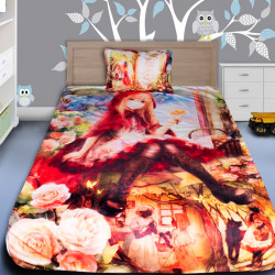 3D луксозен детски спален комплект Червената Шапчица