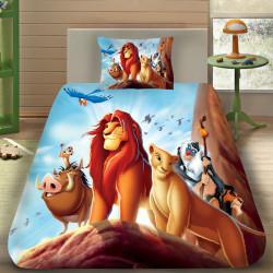 3D луксозен детски спален комплект The Lion King 3