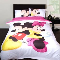 3D луксозен детски спален комплект Мини и Мики Маус