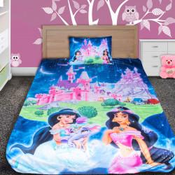 3D луксозен детски спален комплект с Принцеса Жасмин