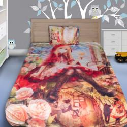 3D луксозен детски спален комплект Allice in wonderland