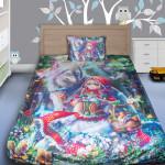 3D луксозен детски спален комплект Allice in wonderland 2
