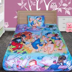 3D луксозен детски спален комплект Трите прасенцa 2