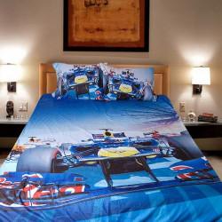 3D луксозен детски спален комплект FORMULA 1