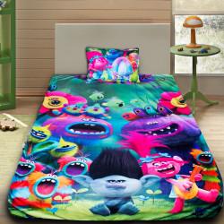 3D луксозен детски спален комплект TROLLS 2