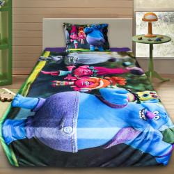 3D луксозен детски спален комплект TROLLS