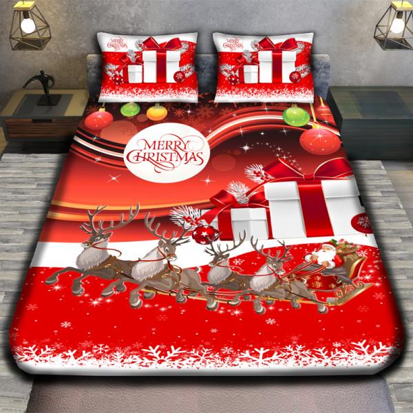 3D луксозен детски спален комплект  MERRY CHRISTMAS REGALO