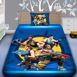 3D луксозен детски спален комплект Фортнайт звезди