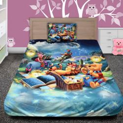 3D луксозен детски спален комплект Мечо пух