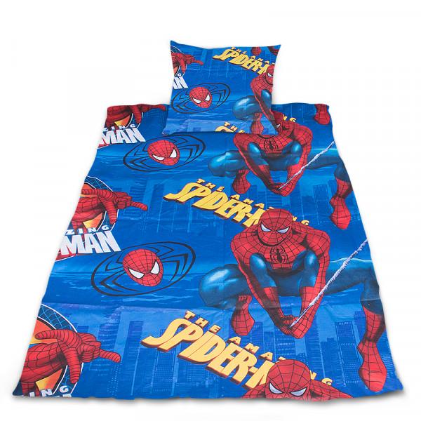 Луксозен бебешки спален комплект SpiderMan син
