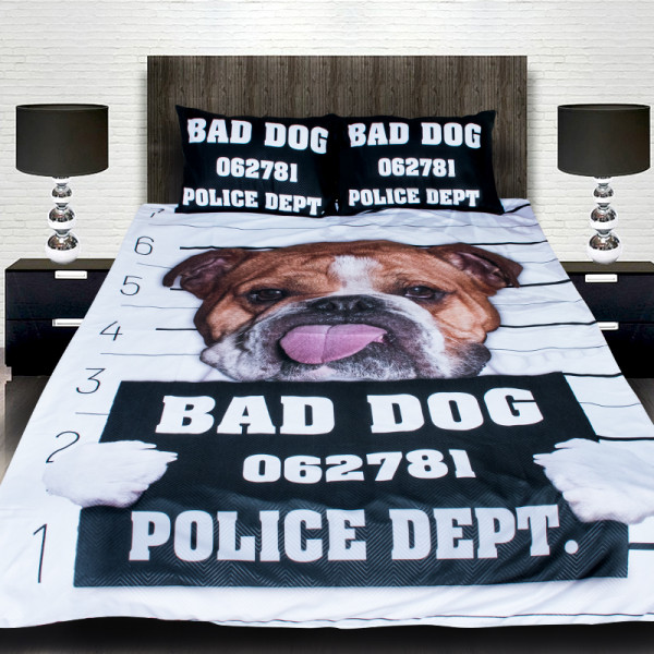 3D луксозен детски спален комплект Bad Dog