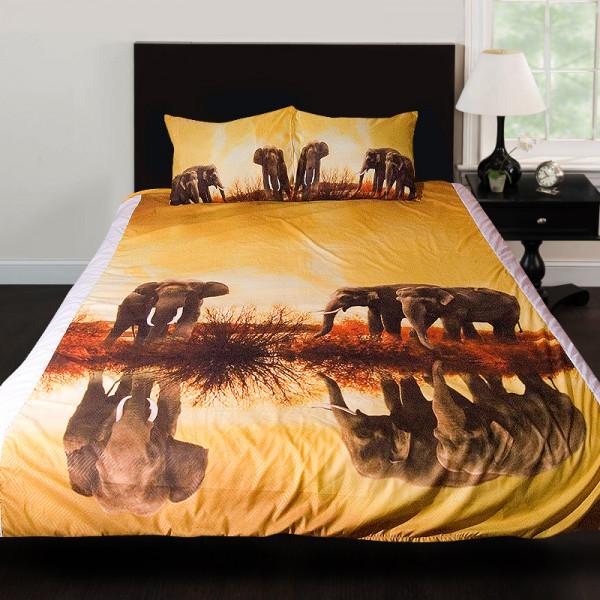 3D луксозен спален комплект Africa