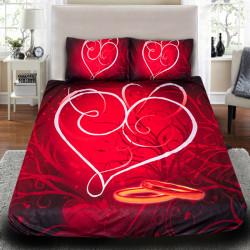 """3D Луксозен спален комплект за влюбени """"Loving you"""""""