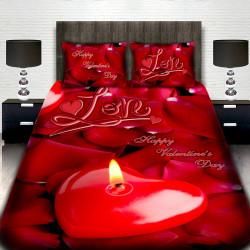 3D Луксозен спален комплект за влюбени Свети Валентин