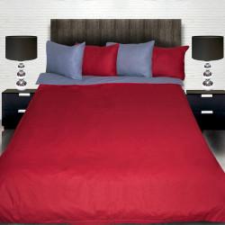 Комплект от двулицево спално сиво и червено с подарък
