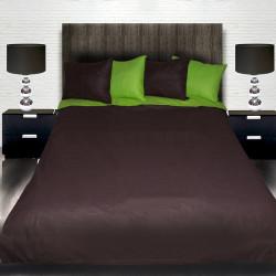 Комплект от двулицево спално зелен и кафяв с подарък
