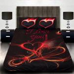 """3D Луксозен спален комплект за влюбени """"I Love You"""" 2"""